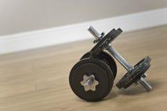 健身重量 免版税图库摄影