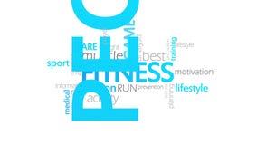 健身,生气蓬勃的印刷术 向量例证