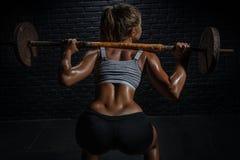 健身,建身 胳膊关心健康查出滞后 免版税库存照片