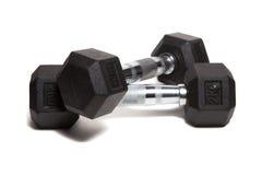 健身锻炼设备哑铃重量 库存图片
