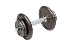 健身锻炼设备在白色的哑铃重量 库存照片