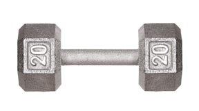 健身锻炼设备被隔绝的哑铃重量 库存图片