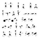 健身锻炼集合 免版税库存照片