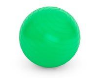 健身细节的大绿色球 库存图片