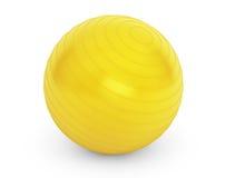 健身细节的大黄色球 免版税库存照片