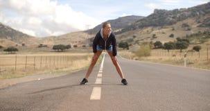 健身Doing Stretch夫人上升 影视素材