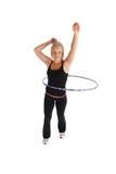 健身hula 库存照片