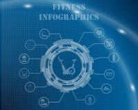 健身Infographic模板 库存照片