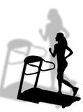 健身roulant tapis 免版税库存图片