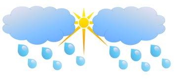 偶尔的多云,雨 库存图片