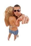 偶然夫妇动态年轻人 免版税库存照片