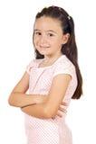 偶然女孩微笑 免版税库存图片