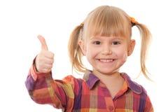 偶然快乐的女孩赞许 免版税库存图片