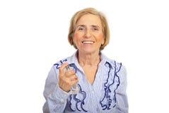 偶然愉快的香水前辈妇女 免版税库存图片