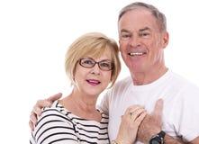 偶然白种人夫妇 免版税图库摄影