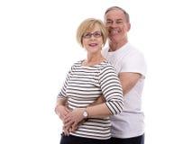 偶然白种人夫妇 免版税库存照片