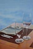 偶然餐位餐具 库存图片