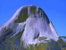 偶象岩层Pedra Azul 29,数字式艺术Afonso法里亚斯 库存例证