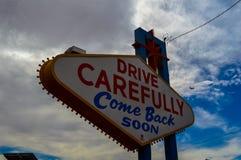 偶象欢迎到拉斯维加斯标志,内华达,美国 库存图片