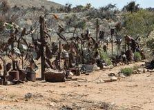 偶象篱芭欢迎您到氯化物,亚利桑那 库存照片