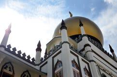 偶象苏丹清真寺新加坡的天视图 库存照片