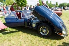 偶象英国跑车捷豹汽车E型的( 亦称捷豹汽车XK-E) 库存图片