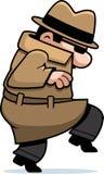 偷偷地走的间谍 免版税库存照片