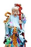 傅Lu Shou雕象用中文寺庙 免版税库存照片
