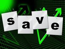 储款保存表明现金财富和金钱 库存例证