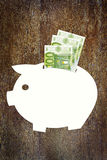 储款金钱在欧元 库存图片
