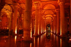 储水池伊斯坦布尔地标观光yerebatan 库存照片