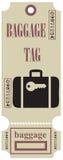 储蓄向量图形行李标签 向量例证