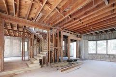 储蓄图象家内部建设中 免版税库存照片