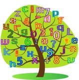 标志。 树。 字母表。 库存图片