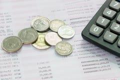 储蓄存款存款簿,书银行报告 库存图片