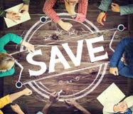 储蓄存款救球财务货币基金概念 免版税库存图片