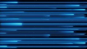 储蓄英尺长度美丽的颜色雨霓虹照亮的数字设计观念动画4K圈 股票视频