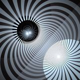 催眠和充满活力的颜色光芒背景 抽象螺旋形涡流 光芒四射的光束旋涡 皇族释放例证