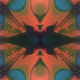催眠墨水污点光谱熔化的蜡万花筒 免版税库存照片