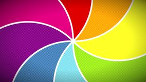 催眠彩虹颜色流行艺术样式螺旋无缝的圈动画4 k正面愉快的背景 库存例证