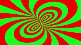 催眠荧光的幻觉无缝的使成环的动画背景 向量例证