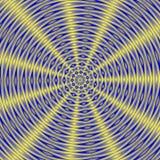 催眠蓝色黄色光芒四射的背景 库存图片