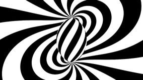 催眠螺旋 黑白催眠状态 库存例证