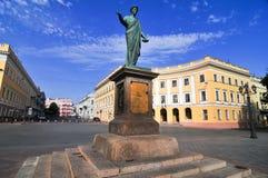 傲德萨乌克兰 Richelieu公爵雕象  免版税库存图片