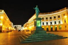 傲德萨公爵richelieu雕象乌克兰 免版税库存照片