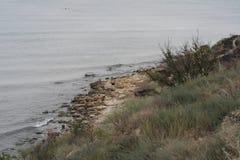 傲德萨岩石海岸  免版税库存照片