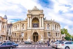 傲德萨歌剧剧院的壮观的建筑学 图库摄影