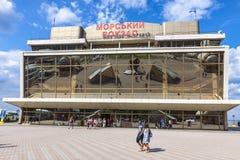 傲德萨海港,乌克兰客运枢纽站  免版税库存照片