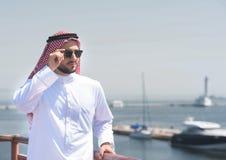 傲德萨港的阿拉伯人  库存图片