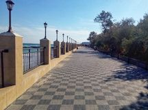 傲德萨的堤防 免版税图库摄影
